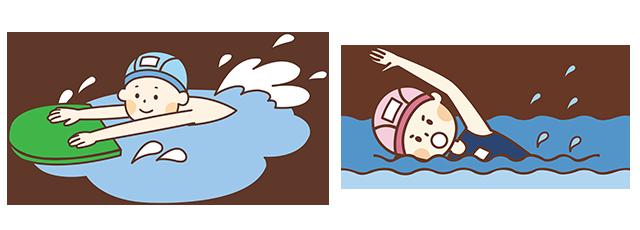 成人水泳コース(4泳法習得、試験資格対策、身体機能改善)